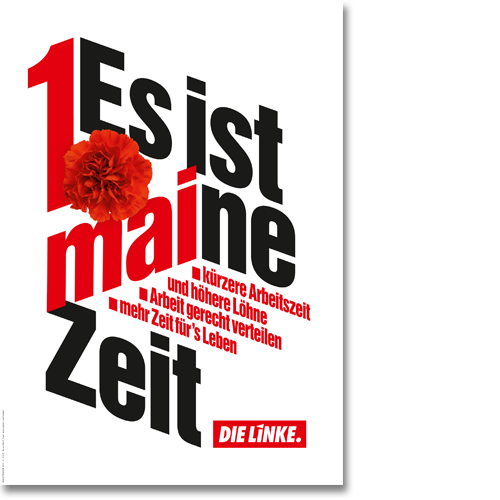 "Plakat ""1. Mai - maine Zeit"""