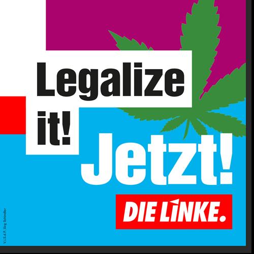 """Aufkleber """"Legalize it!"""""""