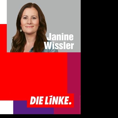 """Eindruckplakat """"Janine Wissler"""""""