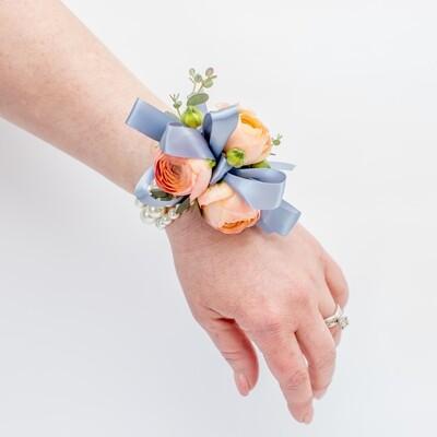 Peach Wrist Corsage