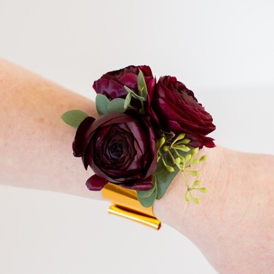 Merlot Wrist Corsage