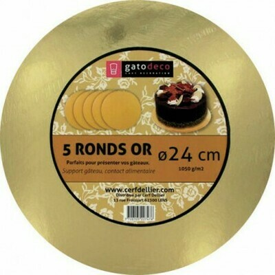 ROND OR 24CM /5 GATODECO