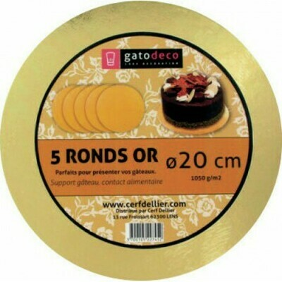 ROND OR Ø 20CM /5