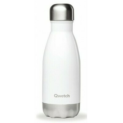 BOUTEILLE ISOTHERME BLANC BRILLANT 26CL QWETCH