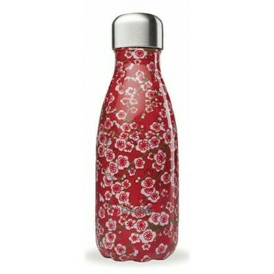 BOUTEILLE ISOTHERME FLEURS ROUGE 26CL QWETCH