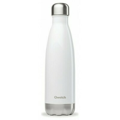 BOUTEILLE ISOTHERME BLANC BRILLANT 50CL QWETCH