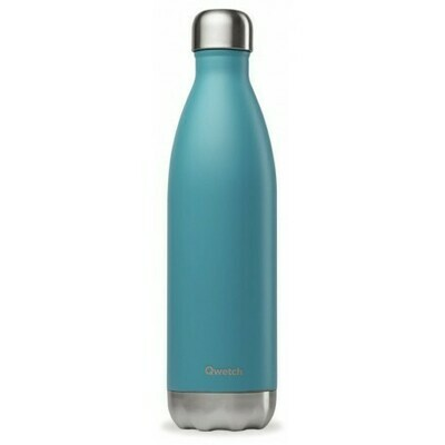 BOUTEILLE ISOTHERME BLEU TURQUOISE 75CL QWETCH