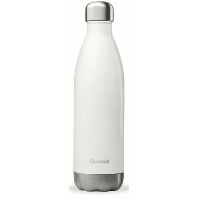 BOUTEILLE ISOTHERME BLANC BRILLANT 75CL QWETCH