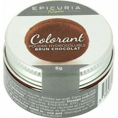 COLORANT POUDRE HYDROSOLUBLE BRUN CHOCOLAT EPICURIA 8G