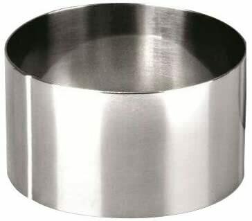 CERCLE A MOUSSE INOX Ø 8CMX4,5CM