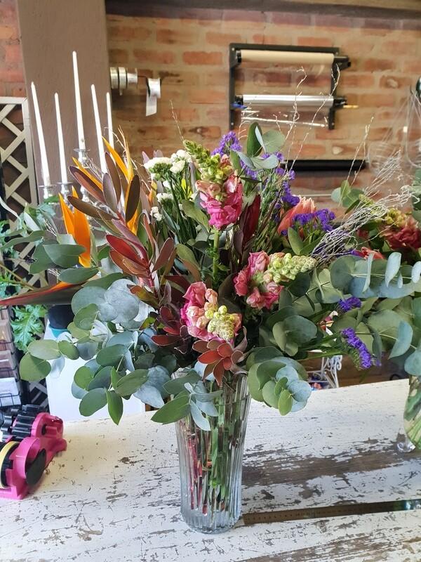 Flowers in a Vase (Seasonal flowers)