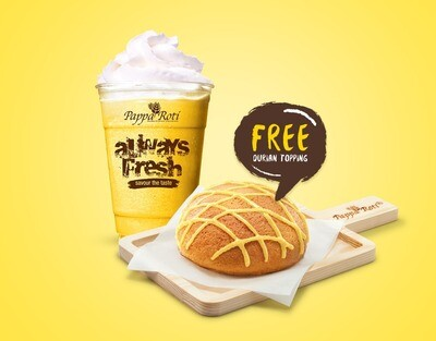 Ice Blended Durian + Signature Bun ( Free Durian Topping ) Set
