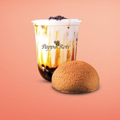 Brown Sugar Bubble Milk + Papparoti Signature Bun