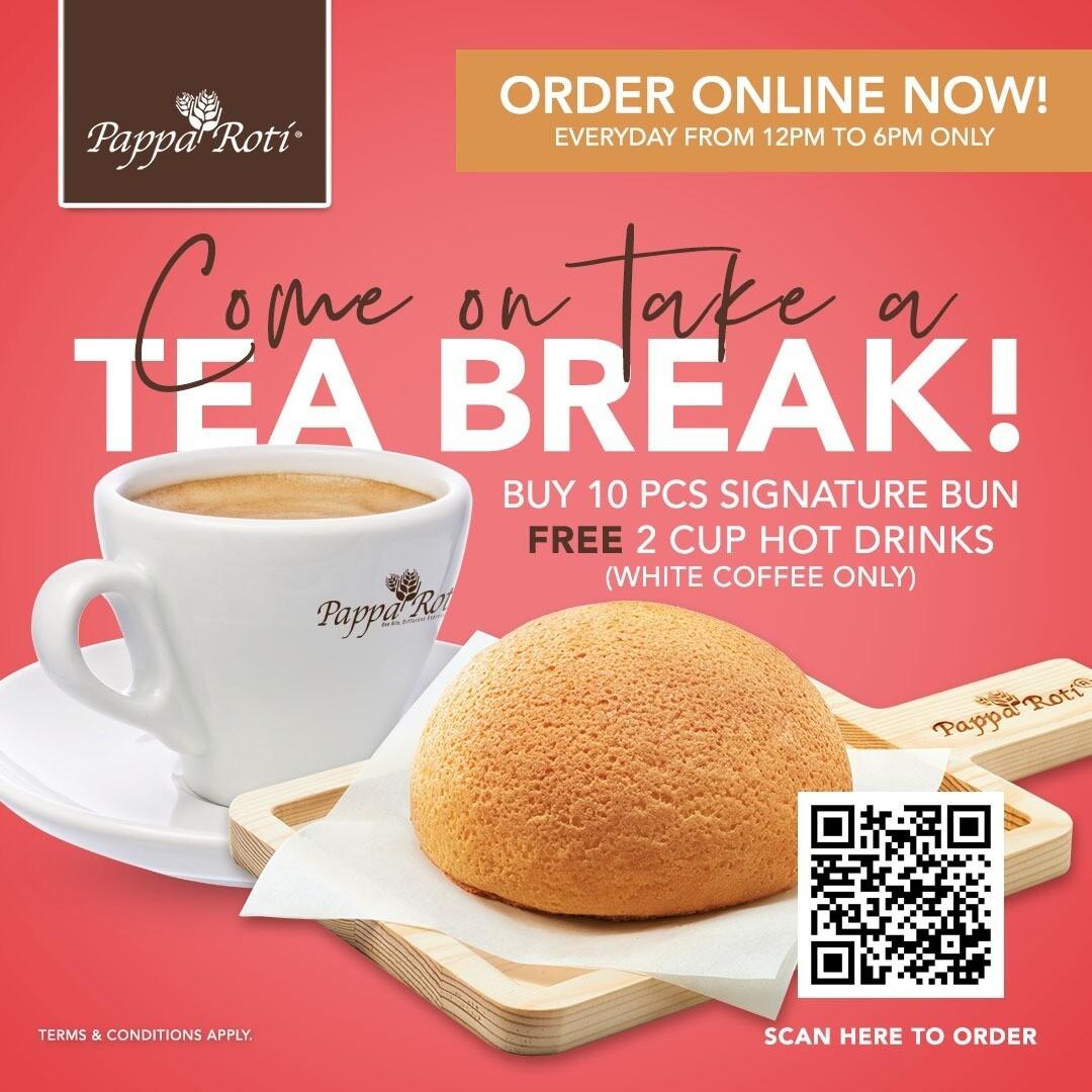 Tea Break (10pcs Signature Bun FOC 2 Hot White Coffee)