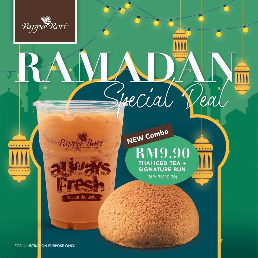 Ramadan Special Deal  (Thai Iced Tea + Papparoti Signature Bun)