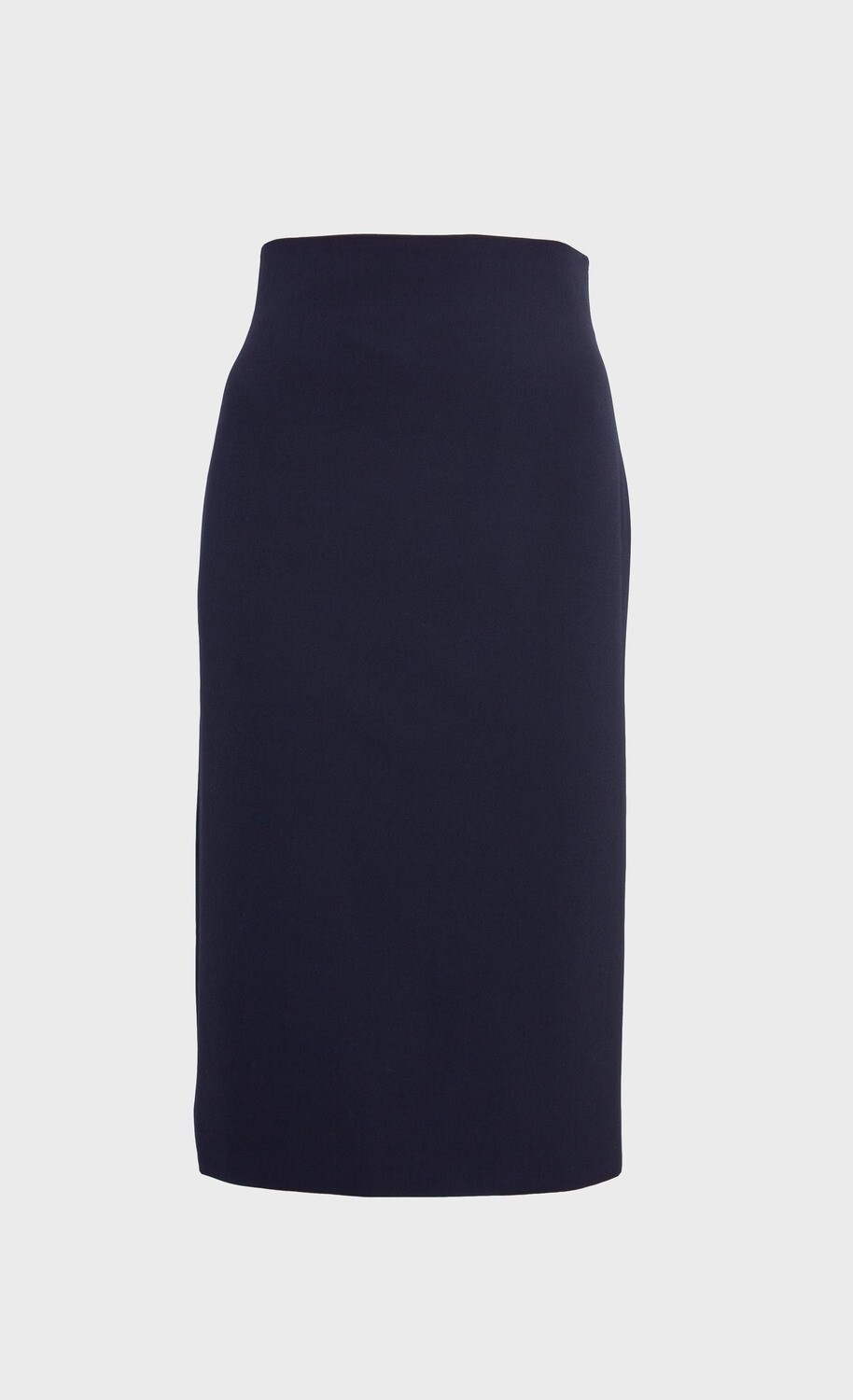 HIGH-WAISTED PENCIL SKIRT MIDI IN BLACK