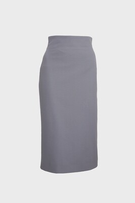 HIGH-WAISTED PENCIL SKIRT MIDI IN GREY