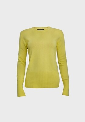 FITTED CASHMERE SWEATER YELLOW