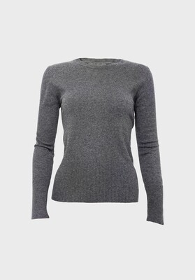 FITTED CASHMERE SWEATER GREY