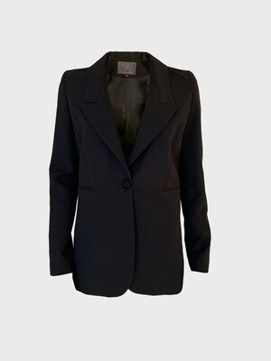SINGLE-BREASTED MEN'S TAILORED JACKET IN BLACK