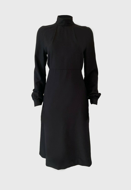 MOCK-NECK LOOSE FIT DRESS IN BLACK