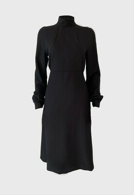 MOCK-NECK LOOSE FIT DRESS IN BLACK