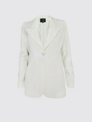 SINGLE-BREASTED MEN'S TAILORED JACKET IN OFF-WHITE