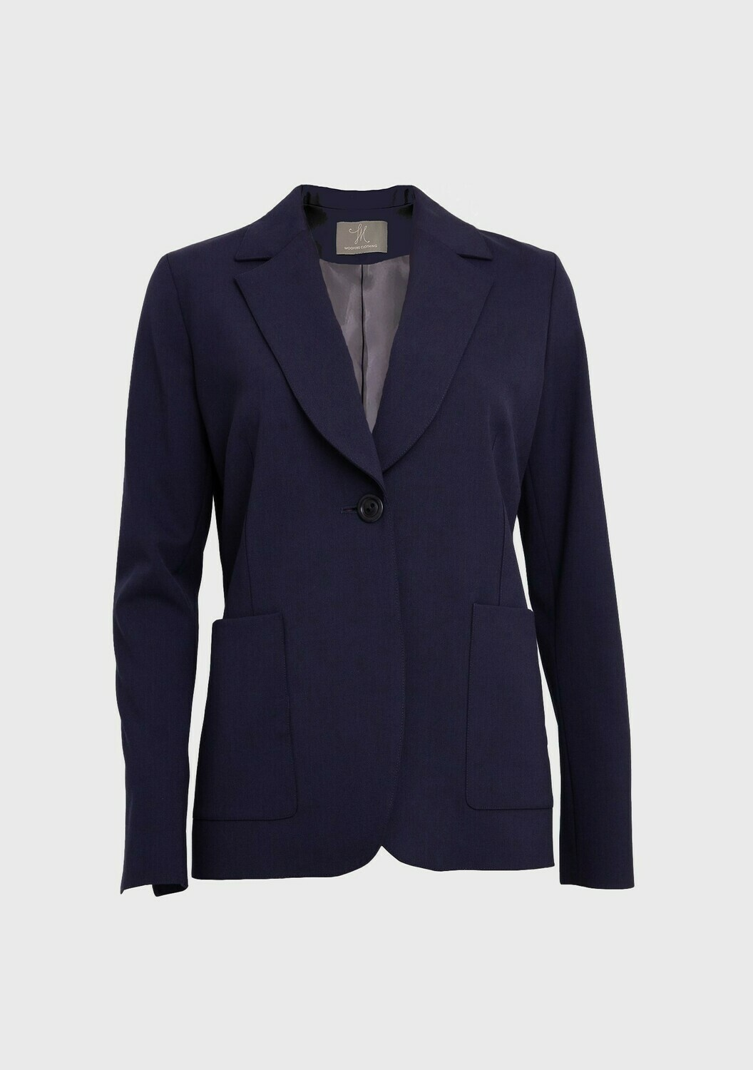 PATCH POCKET SOFT TAILORED JACKET IN NAVY