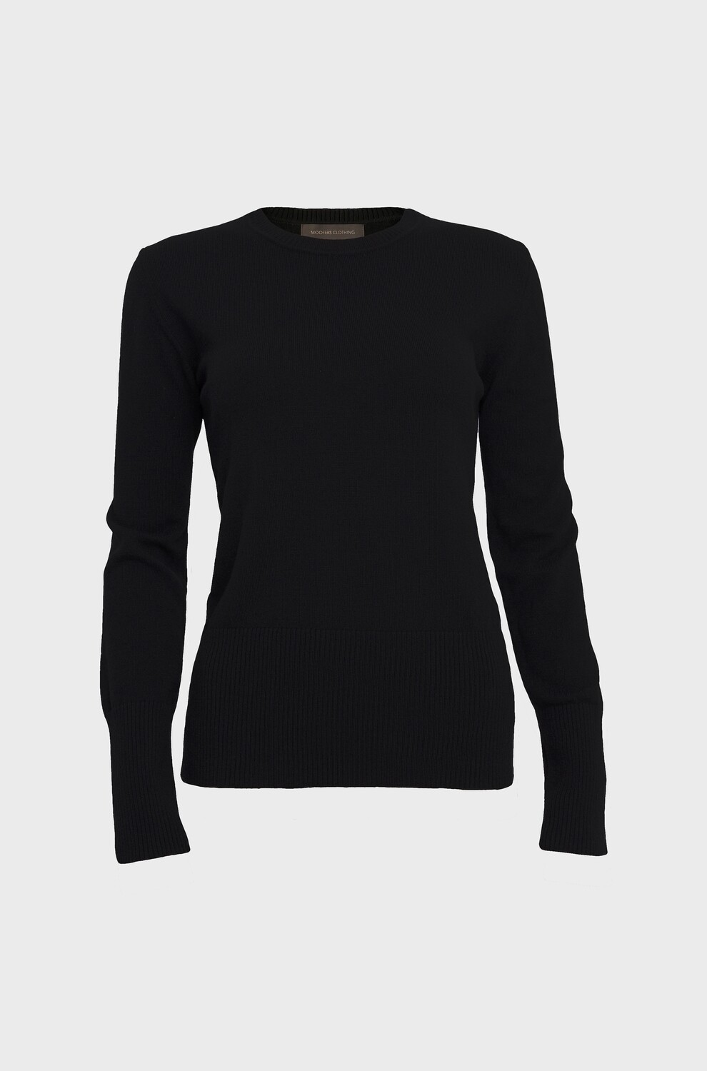 FITTED CASHMERE SWEATER BLACK