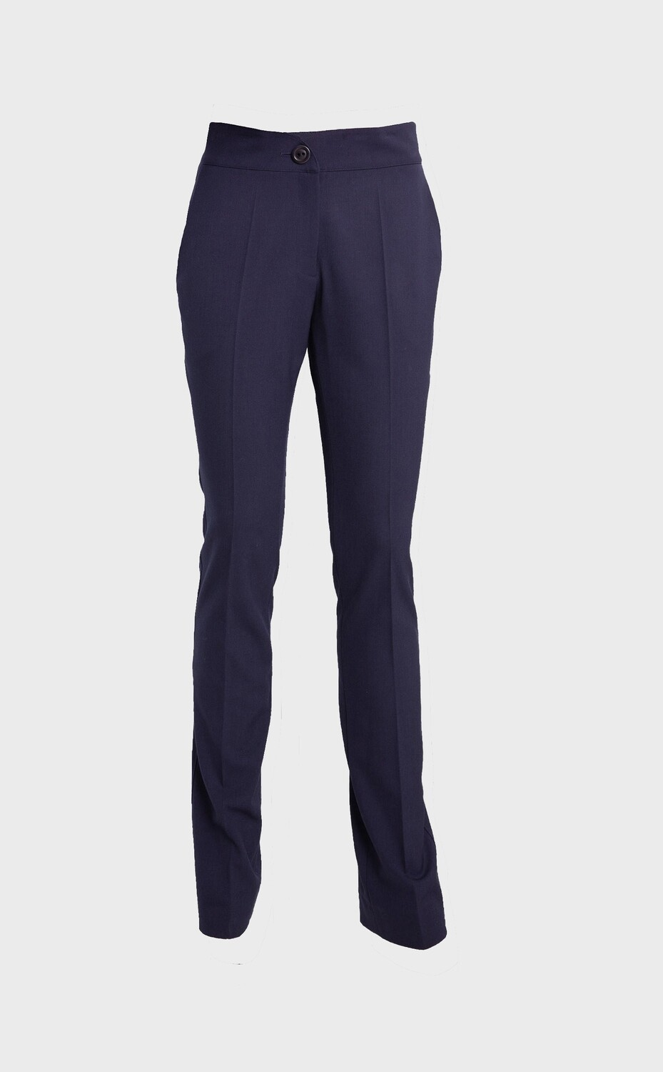 HIGH-WAISTED CIGARETTE TROUSERS IN NAVY