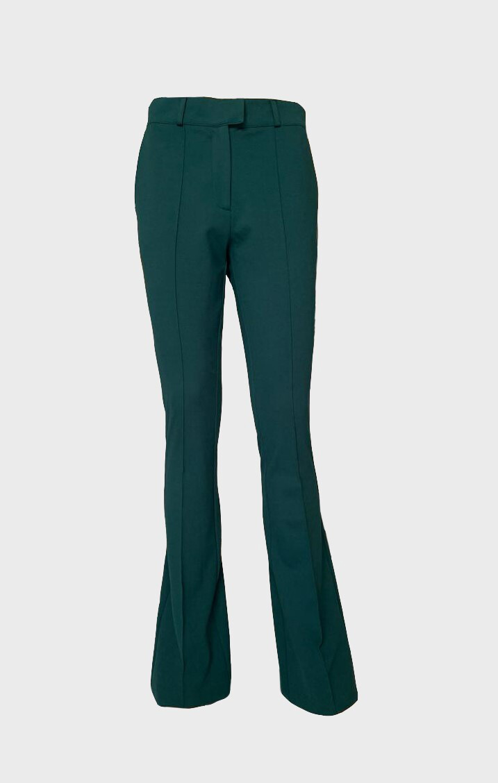 JERSEY TROUSERS IN DARK GREEN