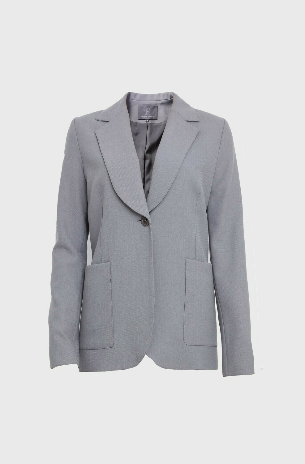 PATCH POCKET SOFT TAILORED JACKET IN GREY