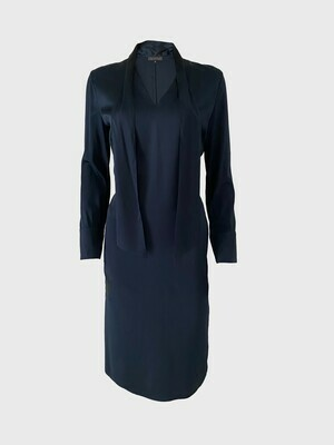 SILK DRESS IN NIGHT BLUE