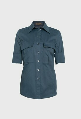 COTTON SHIRT GREYED BLUE