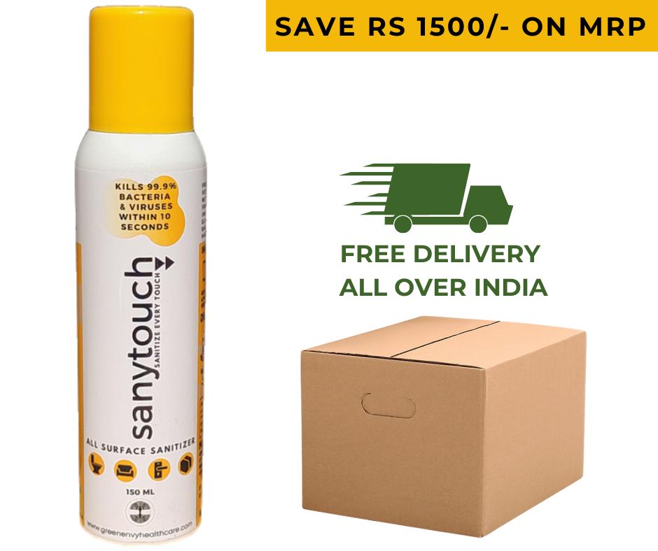 Sanytouch All Surface Sanitizer Spray - 150ml (Box of 30 Sprays)