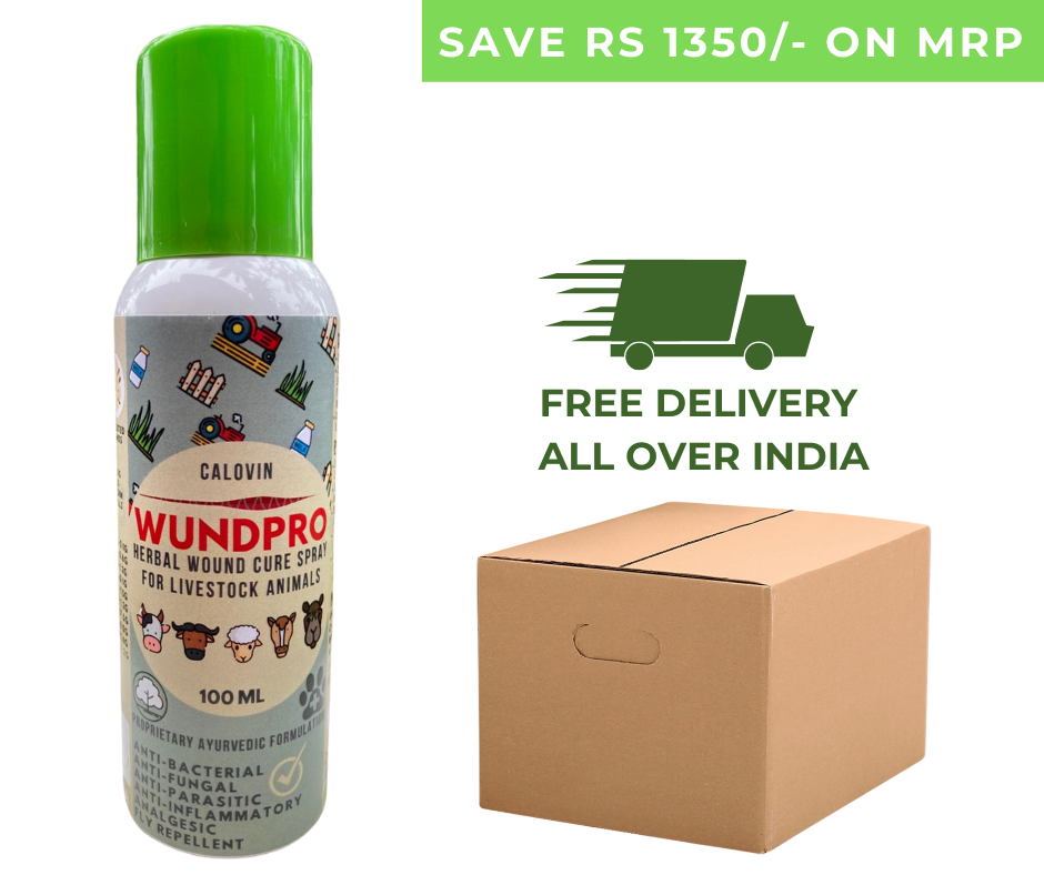 Calovin Wundpro - Herbal Topical Wound Cure Spray for Livestock & Farm Animals - 100ml (Box of 30 Sprays)