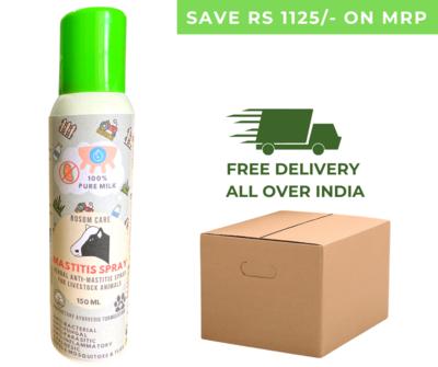 Bosomcare Mastitis Spray - Herbal Topical Anti-Mastitis Spray for Livestock & Farm Animals - 150ml  (Box of 30 Sprays)