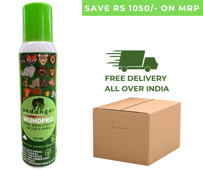 Undanger Wundpro - Herbal Topical Wound Cure Spray for Zoo & Wild Animals - 150ml (Box of 30 Sprays)