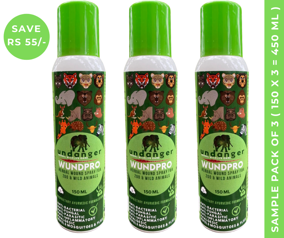 Undanger Wundpro - Herbal Topical Wound Cure Spray for Livestock & Farm Animals - 150ml (Box of 3 Sprays)