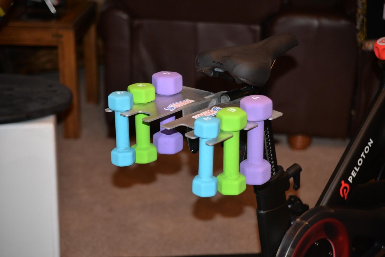 Weight Holder For Peloton Exercise Bikes