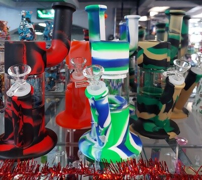 10 INCH GLASS/SILICON WATER PIPE