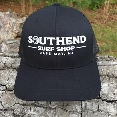 Southend Surf Shop Pre-Curved Trucker - Black