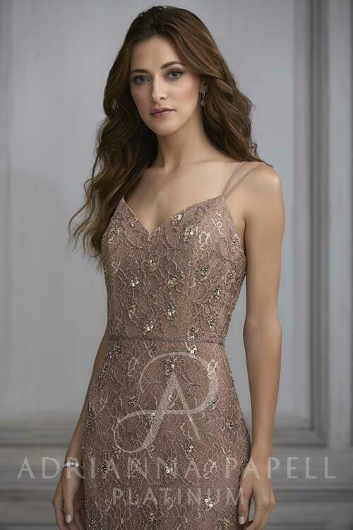 Adrianna Papell 40129 Rose Gold size 18w
