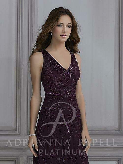 Adrianna Papell  40123 color Merlot size 16