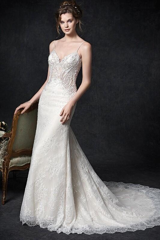 Kenneth WInston wedding dress 1762 size 16