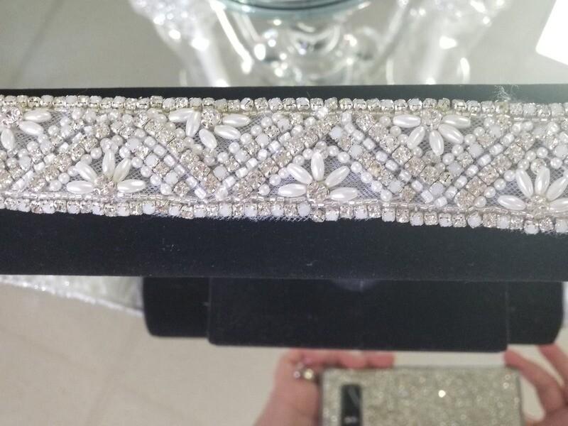Bridal crystal belt