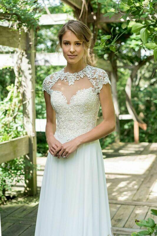 Lillian West wedding dress 66006 size 16