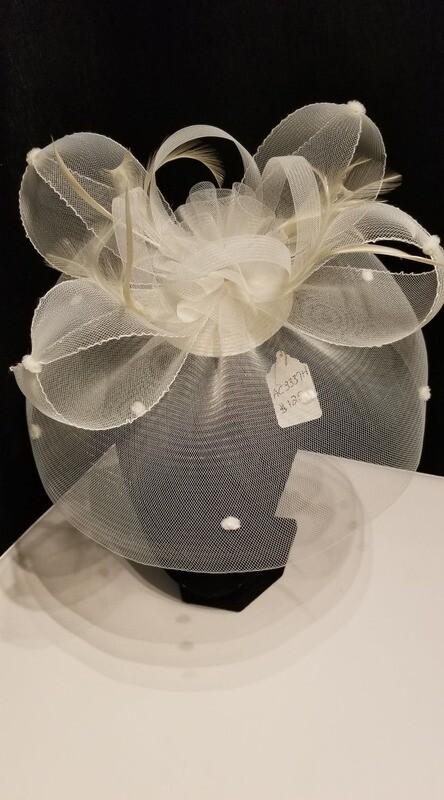 Bridal Cocktail Hat - Ivory