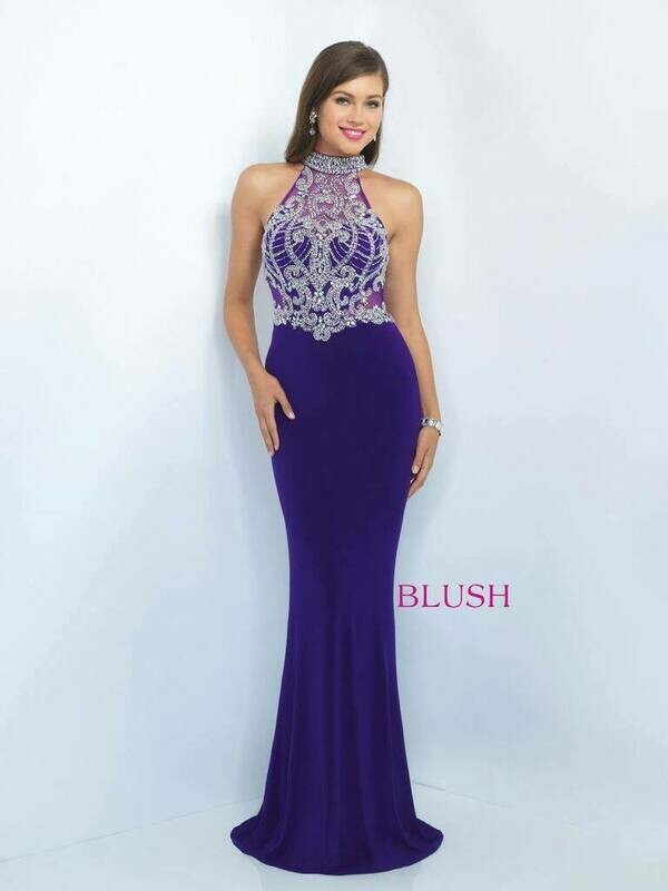 Blush Prom 11072 size 2 in violet