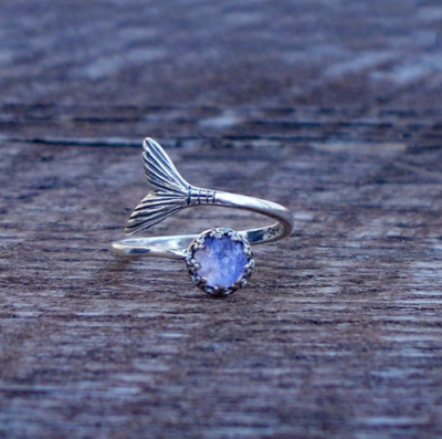Recycled Glass Mermaid Ring
